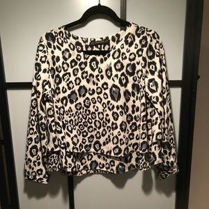 Zara Animal Print Blouse Size Medium